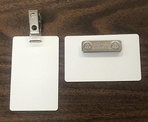 Name Badges Clip or Magnet